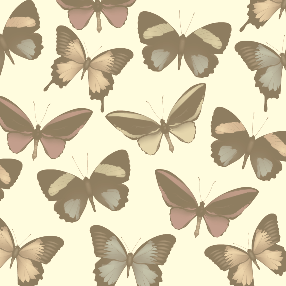 Vintage-look sepia tone butterfly scrapbook paper