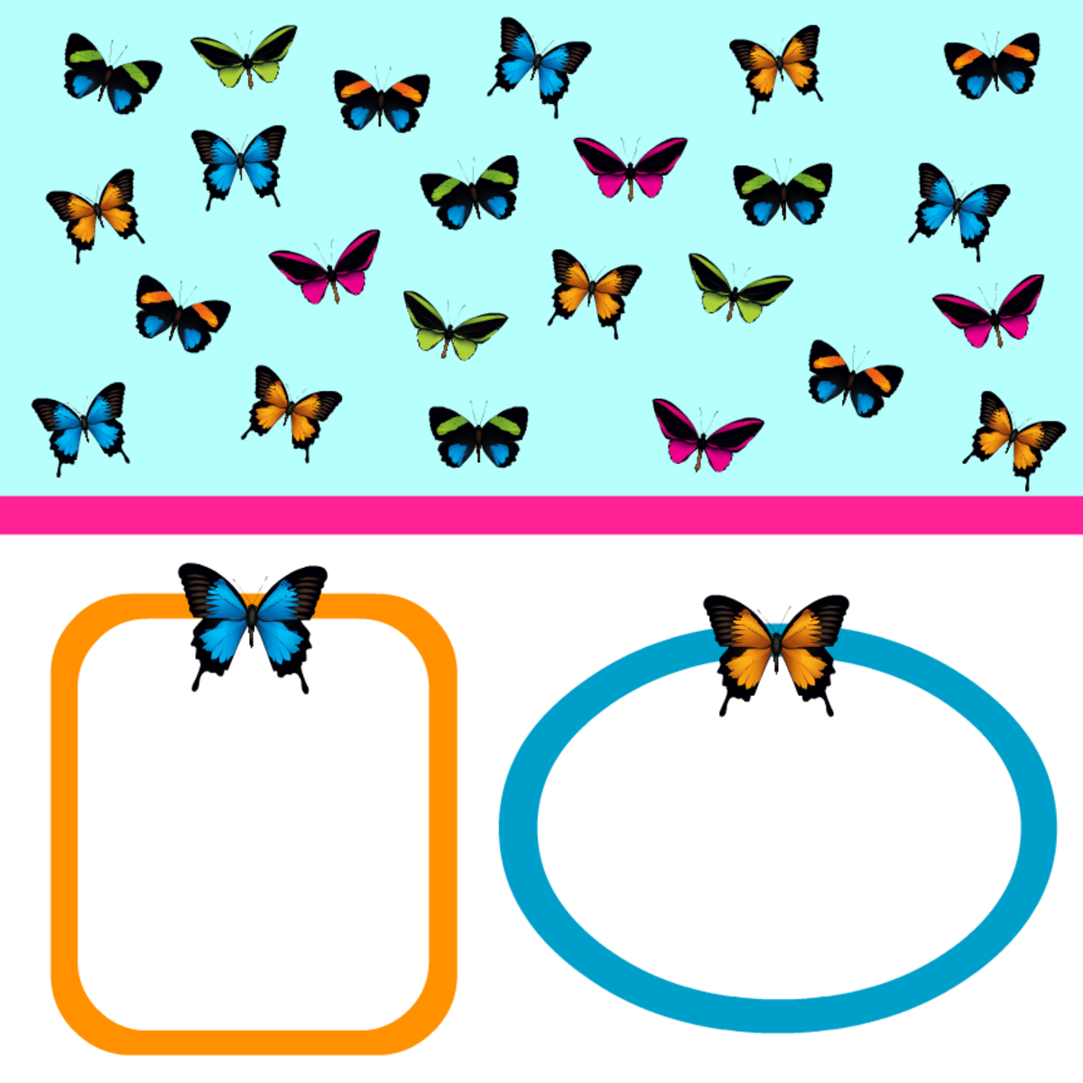 Free Butterfly Scrapbook Papers, Journaling Cards and Embellishments