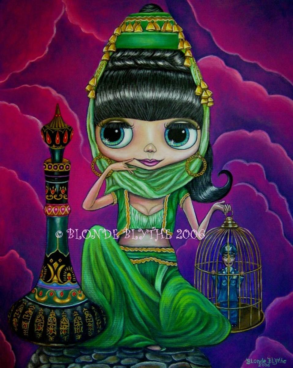 """""""Evil Genie Doll"""" by Blonde Blythe"""