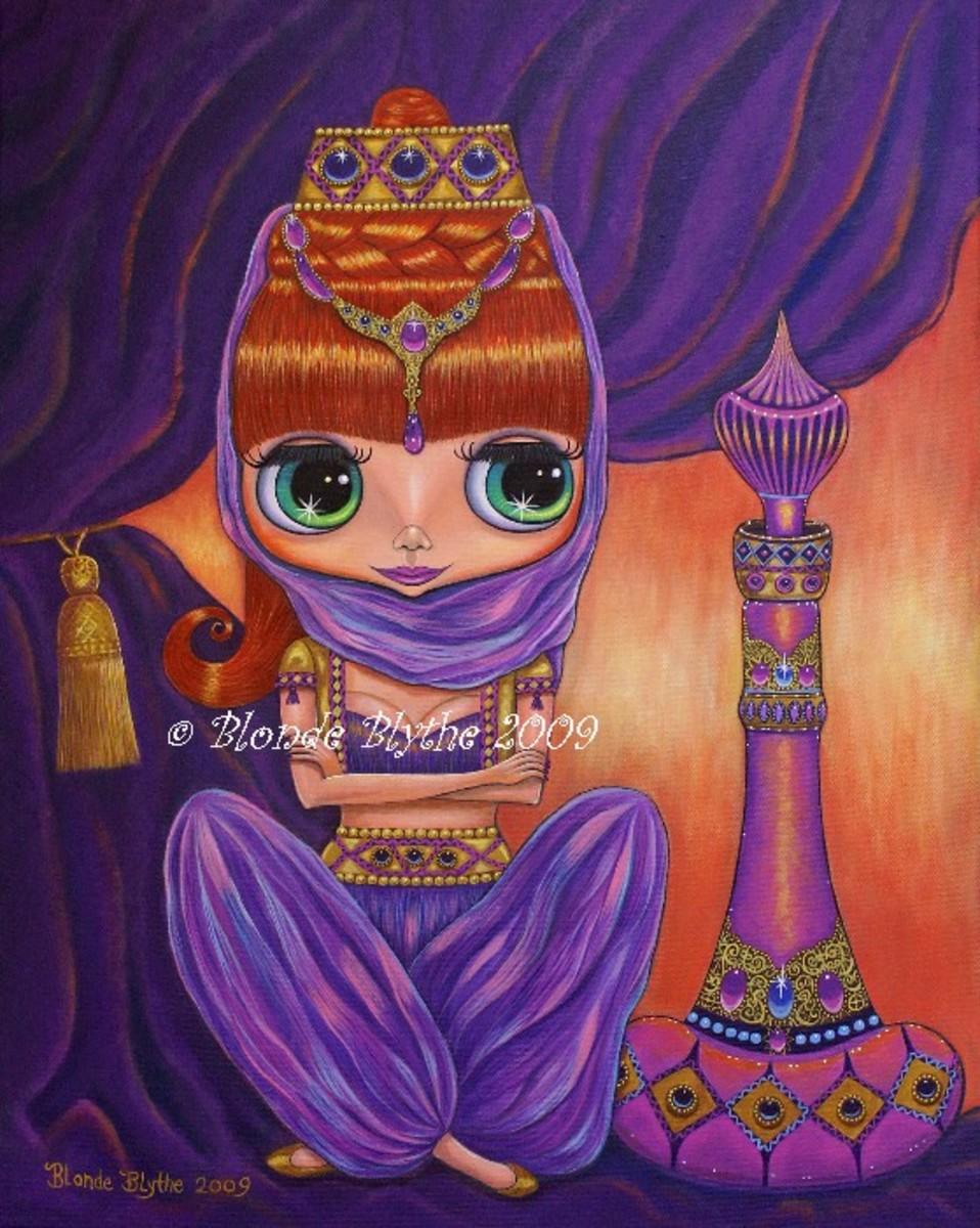 """Purple Genie Doll"" by Blonde Blythe"