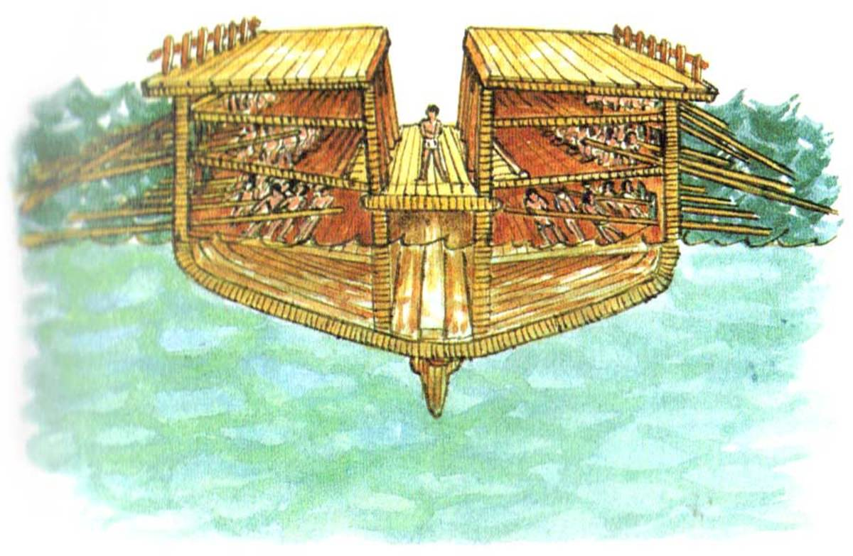 Cross-section of a trireme