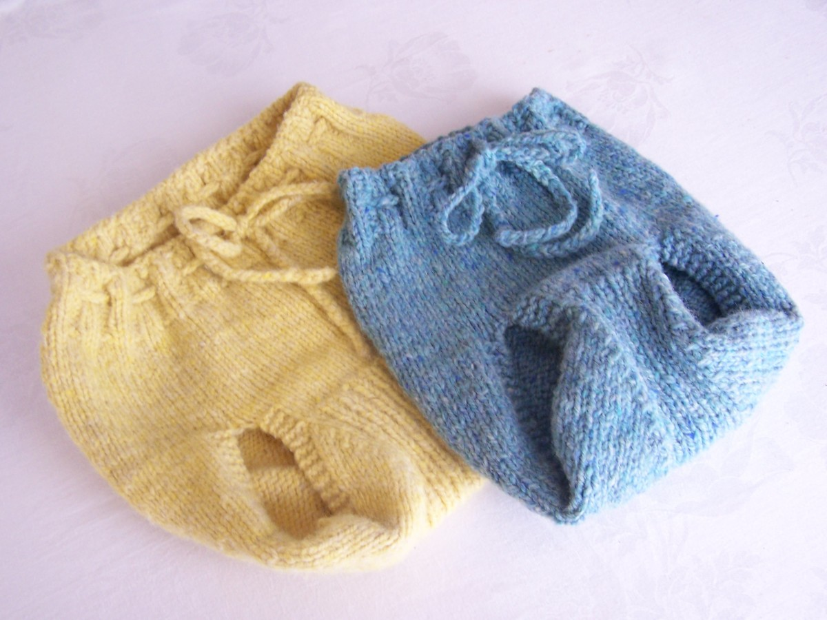 Hand-knit Wool Diaper Cover Pattern - FREE Pattern