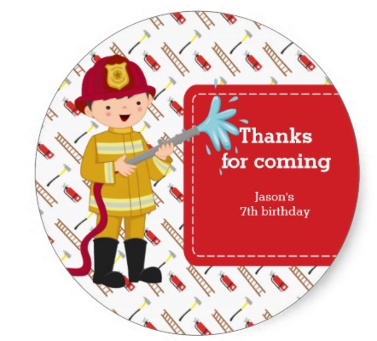 Firefighter Thank You Stickers