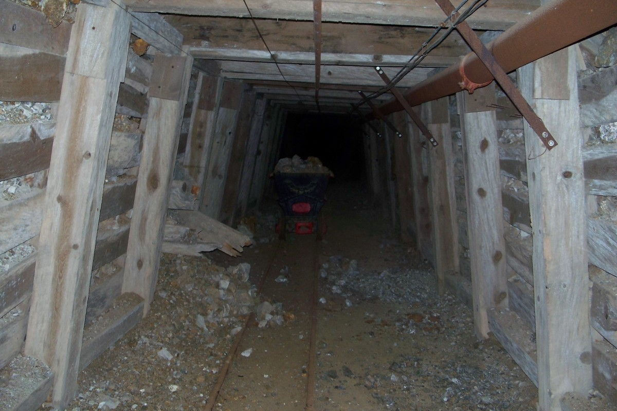 San Pedro Mine interior--50 feet in main tunnel