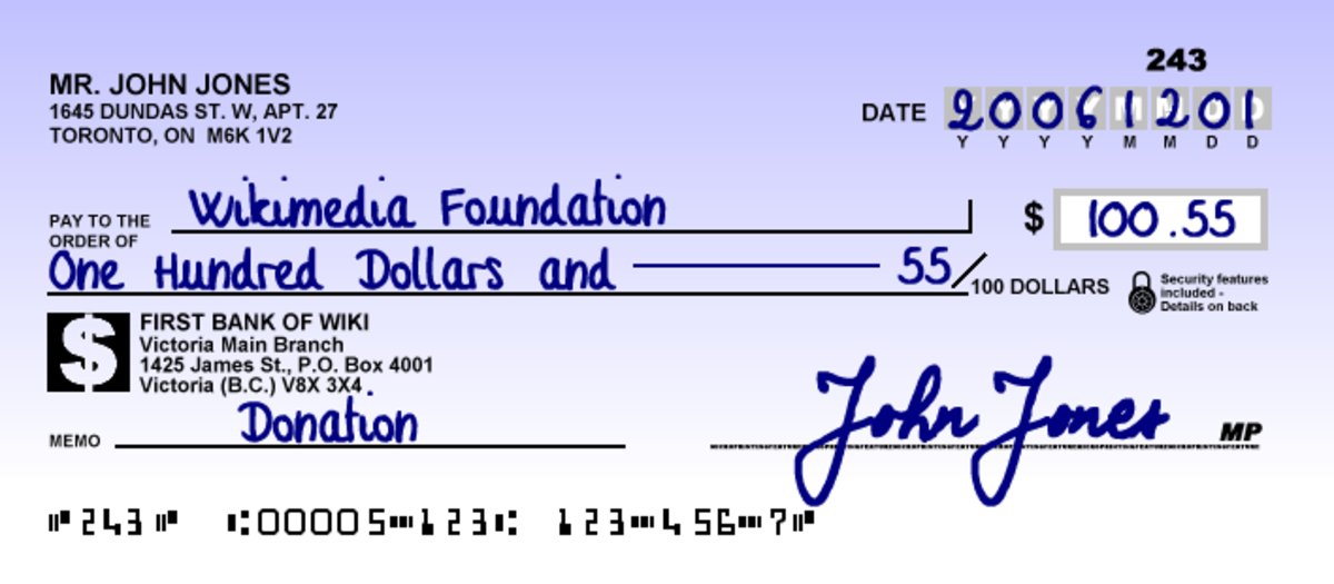 How to write a check out for 25 dollars