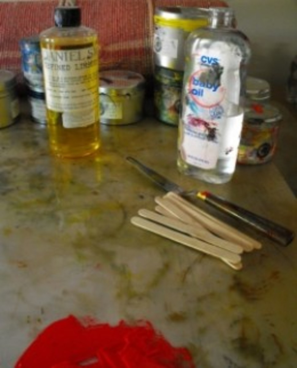 Monoprinting Supplies