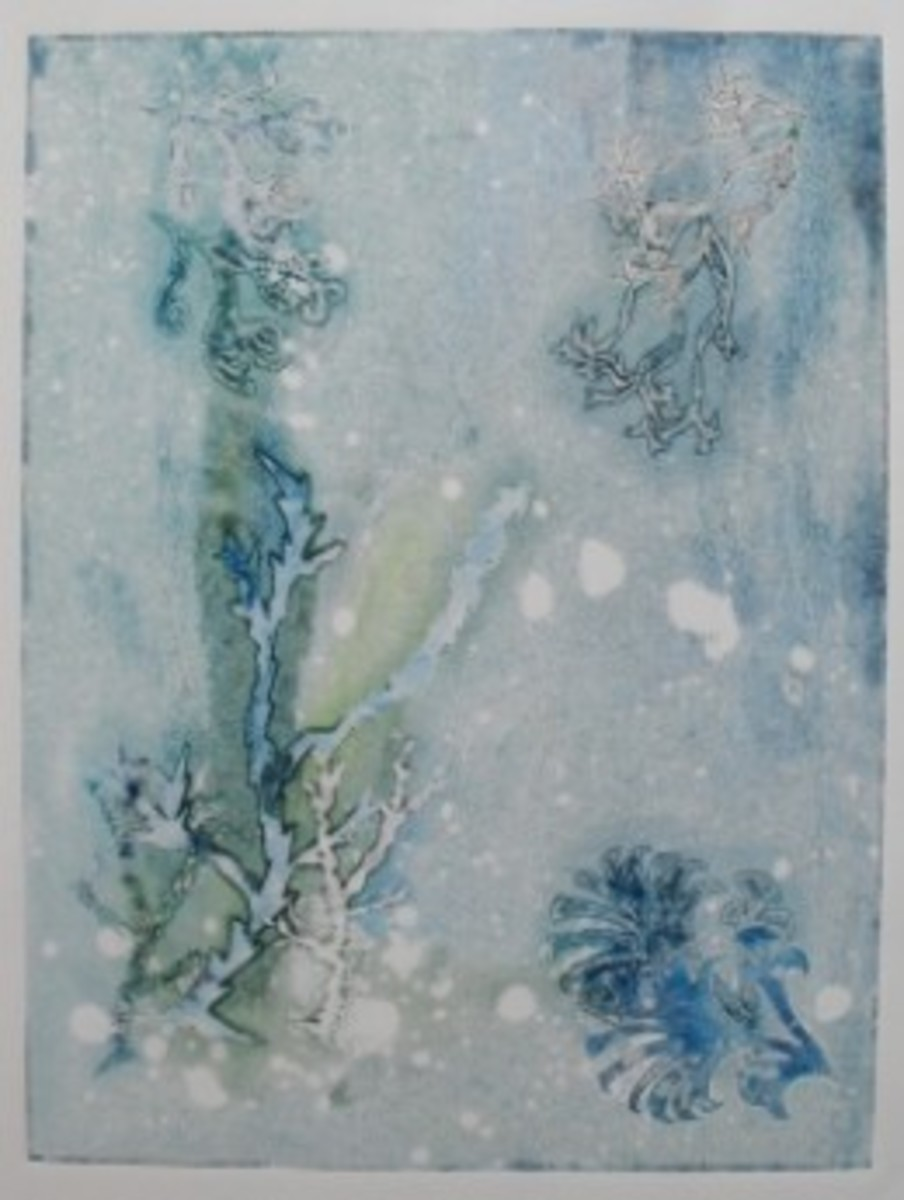 monoprinting class: image by paperfacets