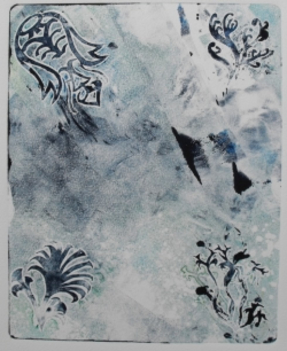 2nd monoprinting: image by paperfacets
