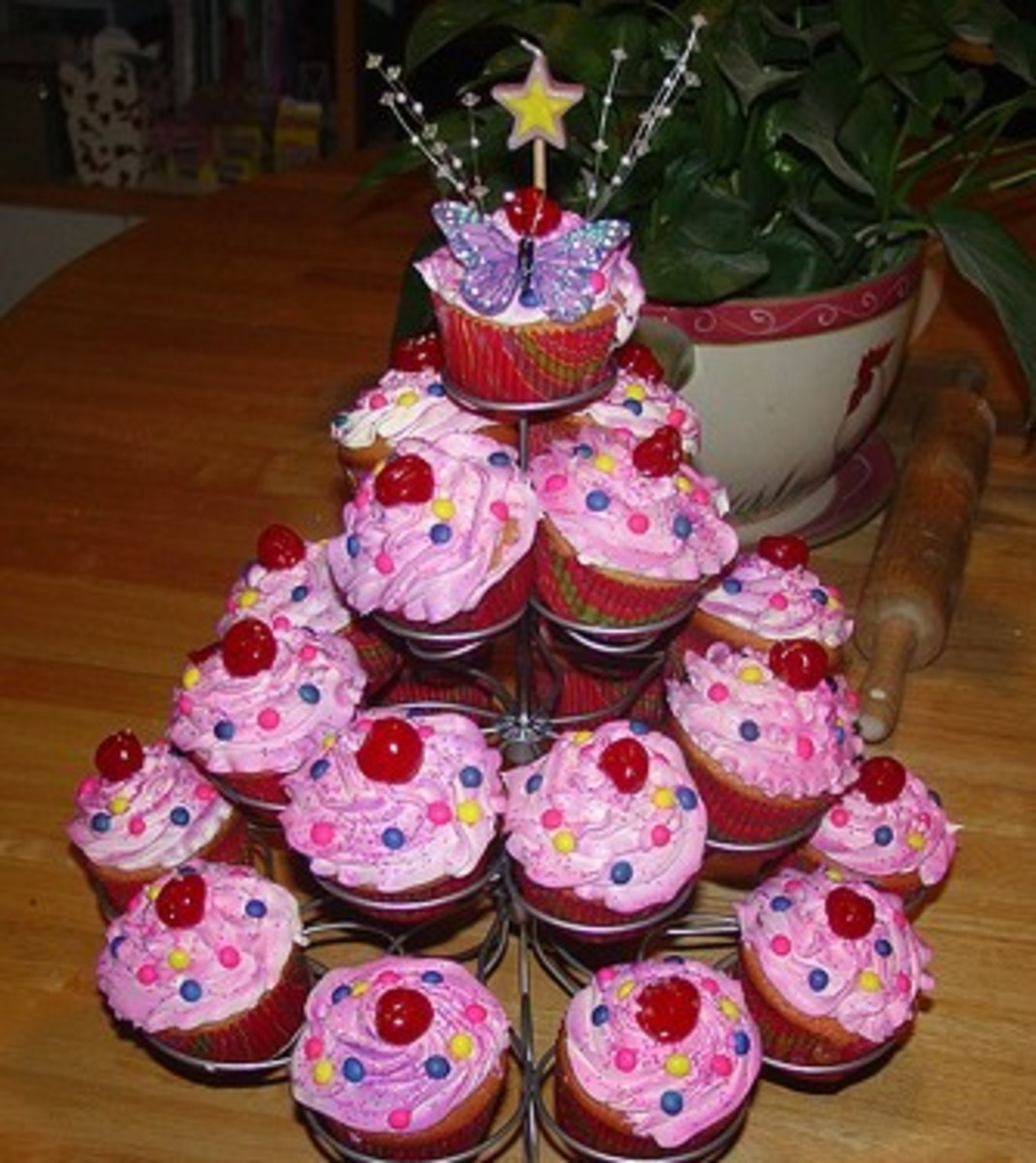 Cherries Cupcake Tree