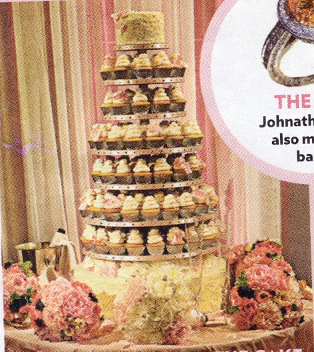 Carrie Underwood and Mike Fisher's Wedding Cupcake Tower
