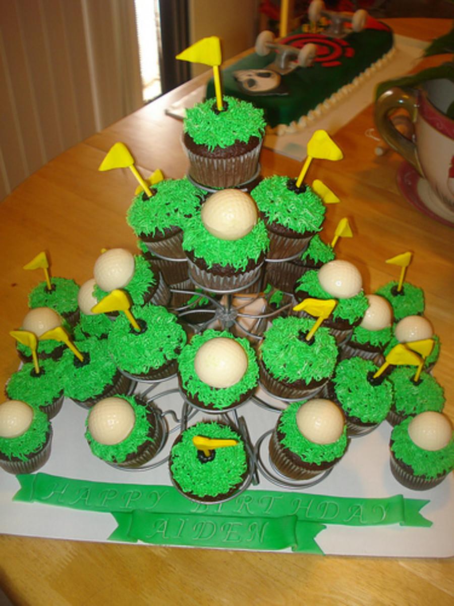 Golf Cupcake Tree
