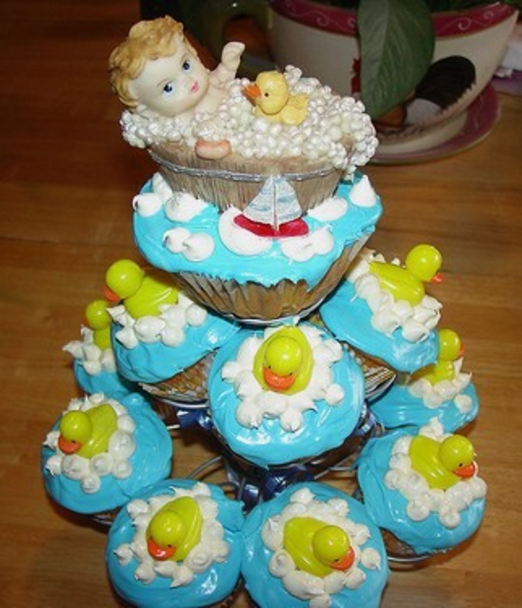 Baby Shower Cupcake Tree