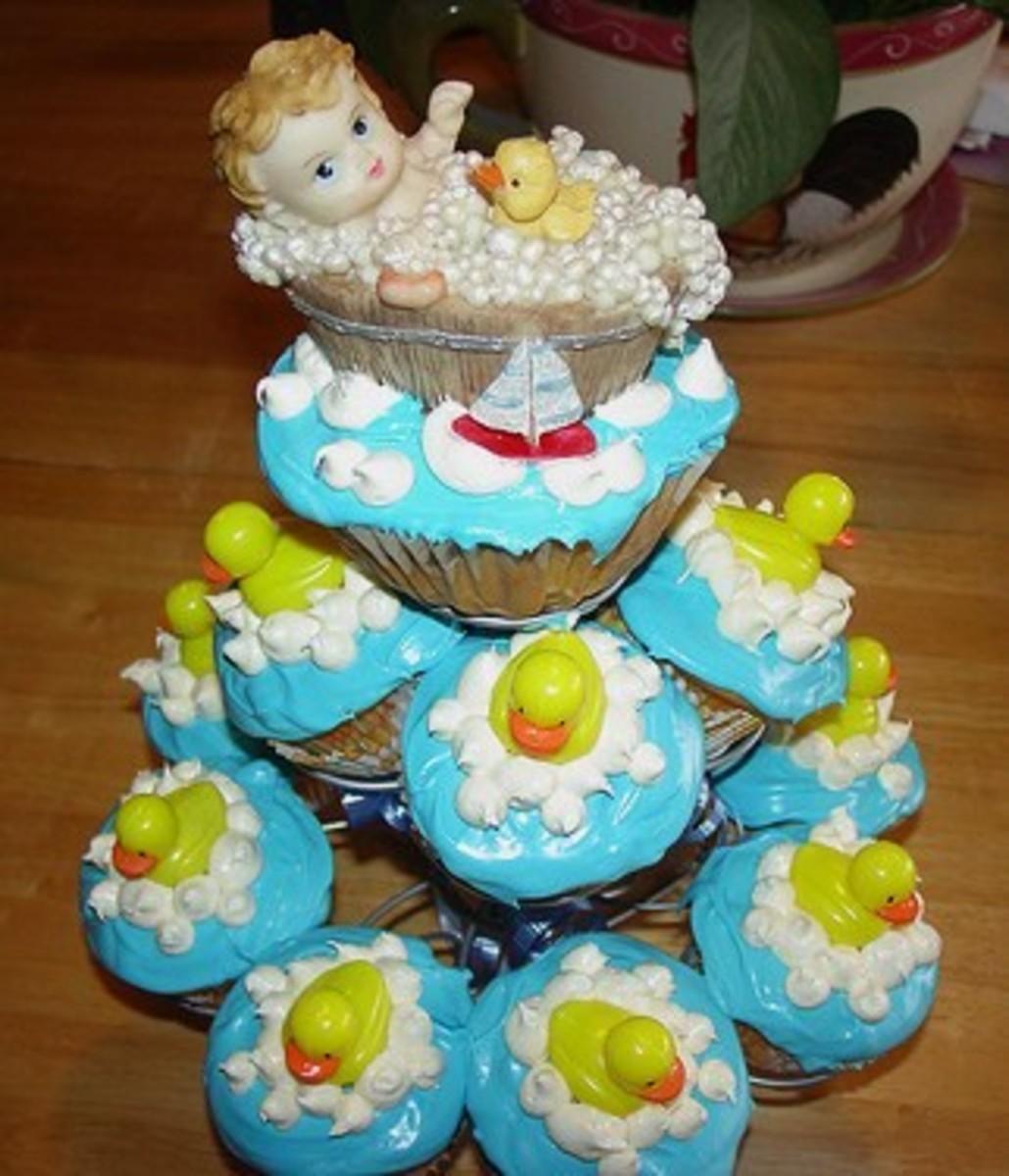 Baby Shower Cupcake Tree