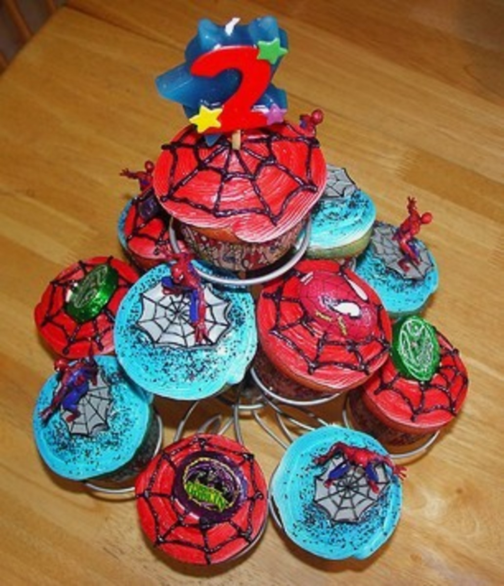 Spiderman Cupcake Tree