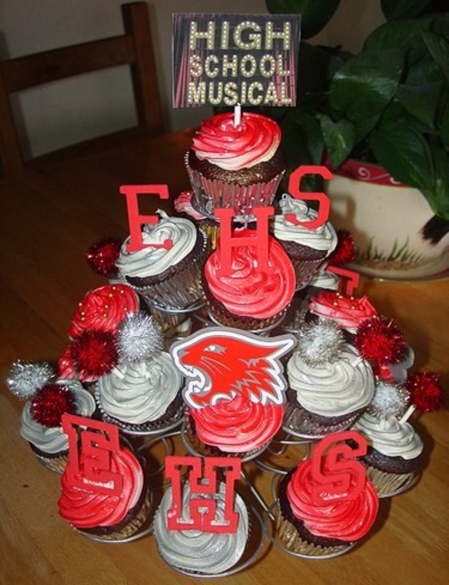 High School Musical Cupcake Tree