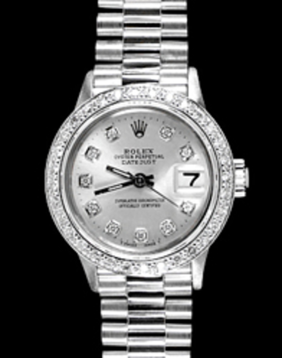 Ladies White Gold Rolex President