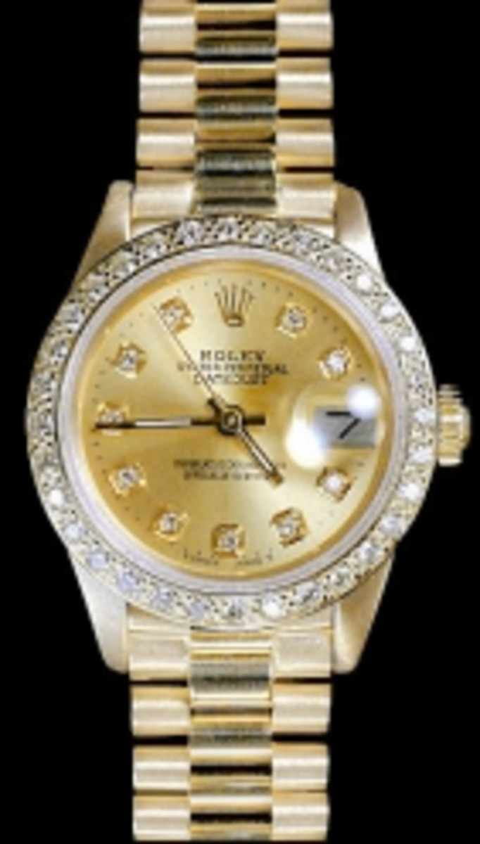 Ladies Channel Set Bezel Rolex President