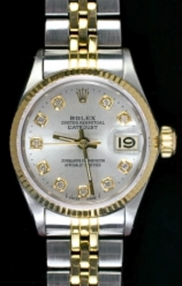Ladies Two Tone Jubilee Rolex Datejust
