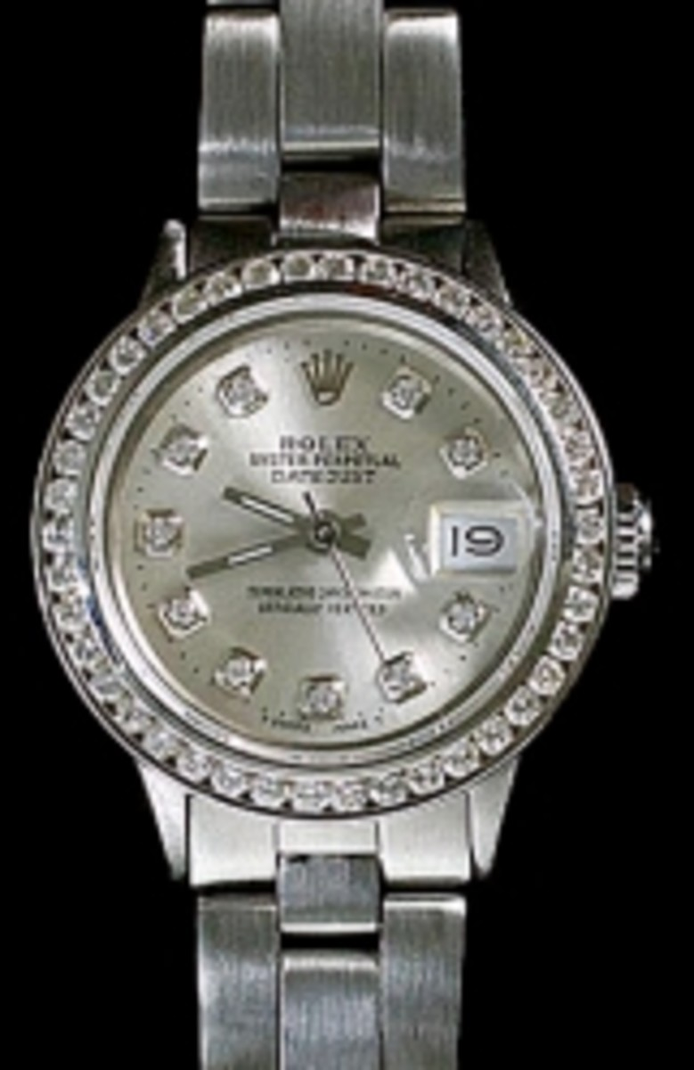 Ladies Stainless Steel Oyster Rolex Datejust