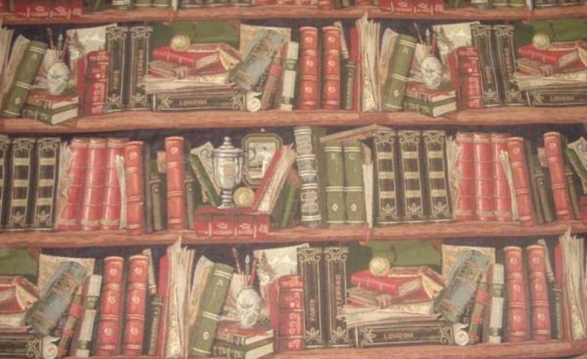 A vintage trompe l'oeil tapestry fabric