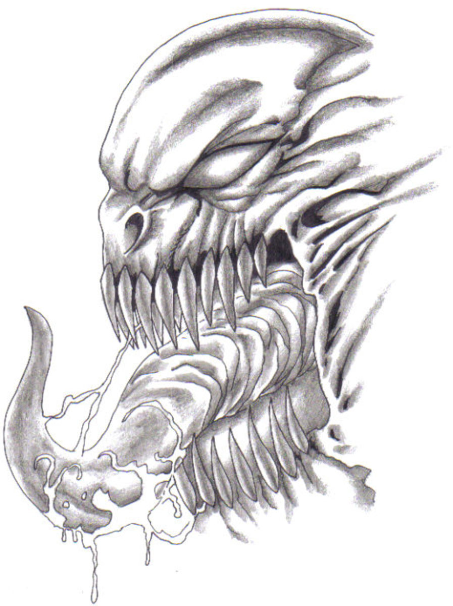 Scary Monster Drawing