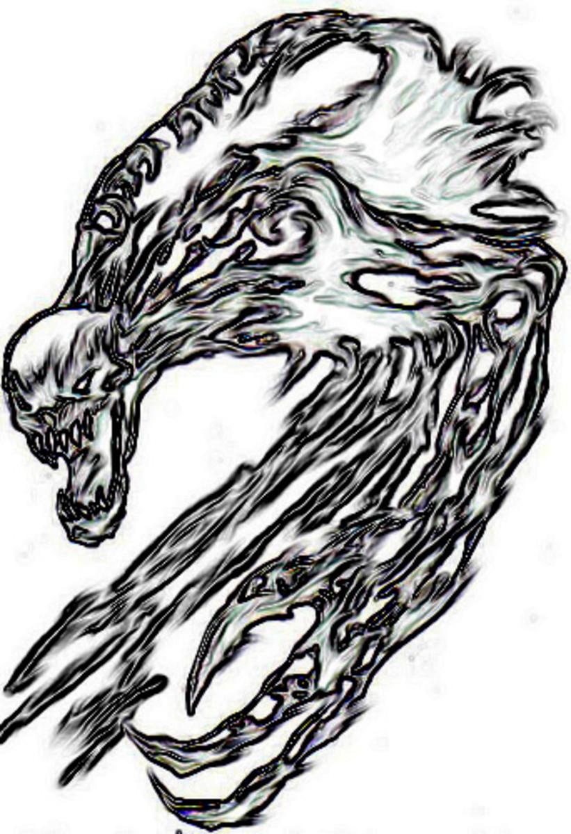 Digital demon artwork Copyright Wayne Tully.