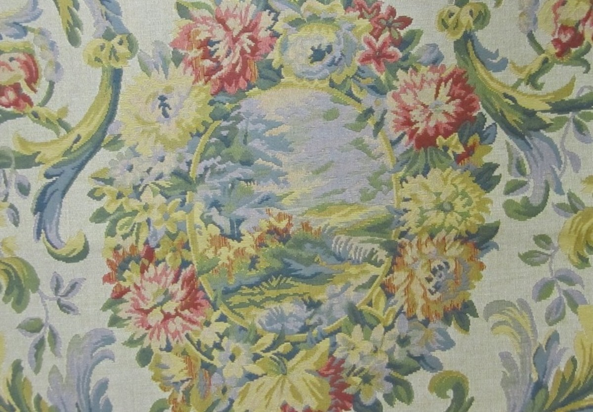 Detail from an Aubusson Chair Tapestry