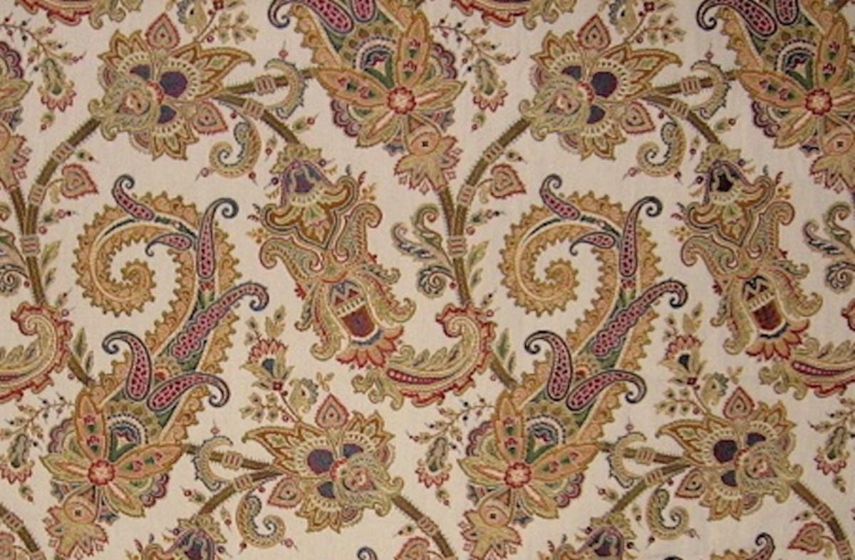 Paisley design brocade fabric
