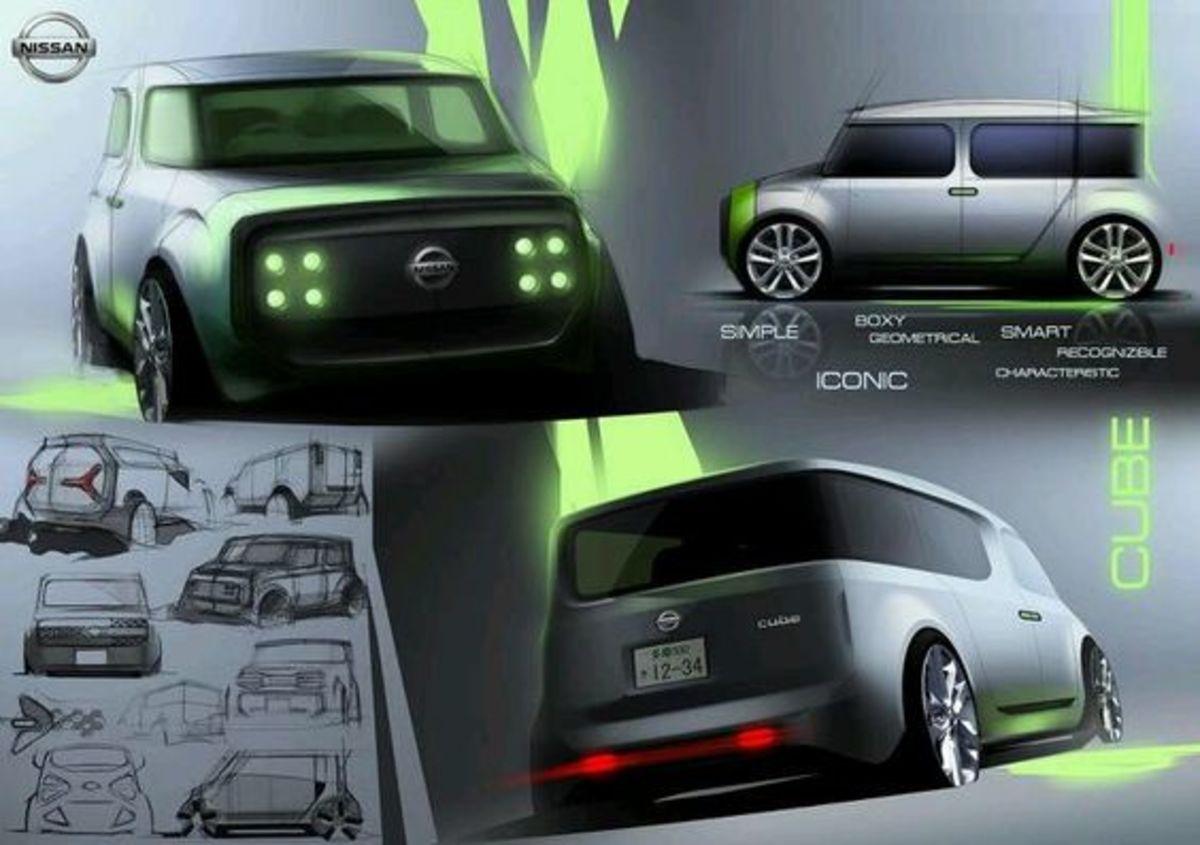 Nissan Cube Concept Board