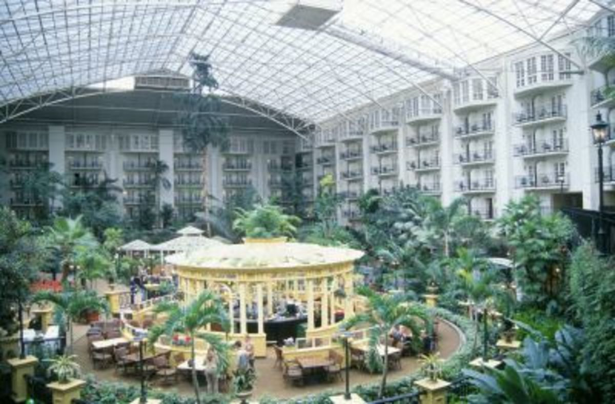 One View of the inside of Gaylord Opryland Hotel
