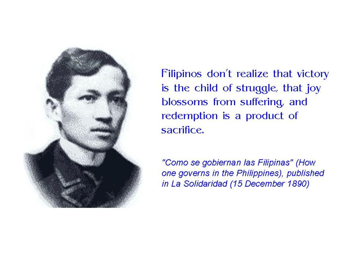rizal as inspiration Probably the first citizen of the world from our region, we can draw inspiration from rizal's life as we cope with the challenges of globalization best of all, knowing that our nation.
