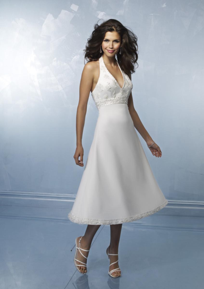 "photo credit: myweddingshop.com    ""teawd003     Size:2-28/Custom    Color: white/ivory    Fabric:    Satin, chiffon, lace, beading     Price:US$175"""