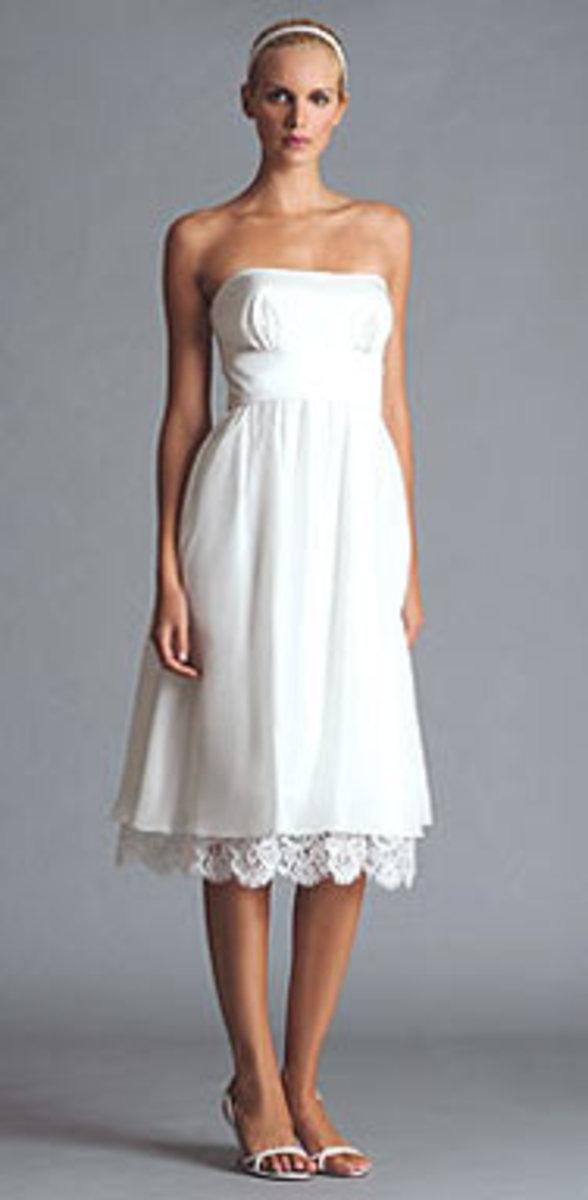 "photo credit, jennyyoo.com  Jenny Yoo Audrey Dress #JYL-012    ""Strapless China Silk Dress with Charmeuse Empire Waist Sash and full gathered skirt"""