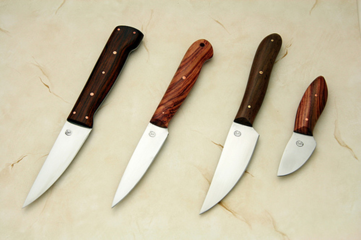 Different Paring Knives - Last One is for Deboning Birds while Leaving the Skin and Meat Intact (Photo courtesy by morphblade from Flickr)
