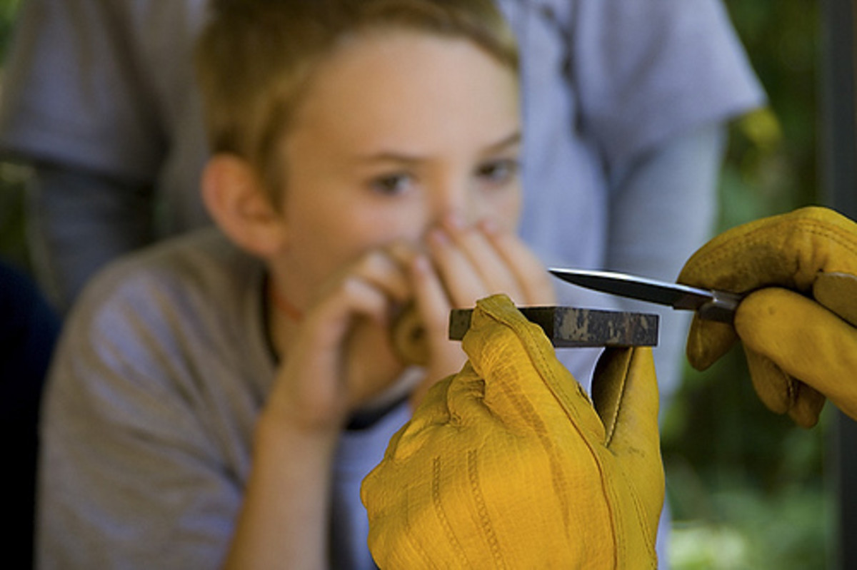 A Demo on How to Sharpen a Knife (Photo courtesy by Mary Wardell from Flickr)