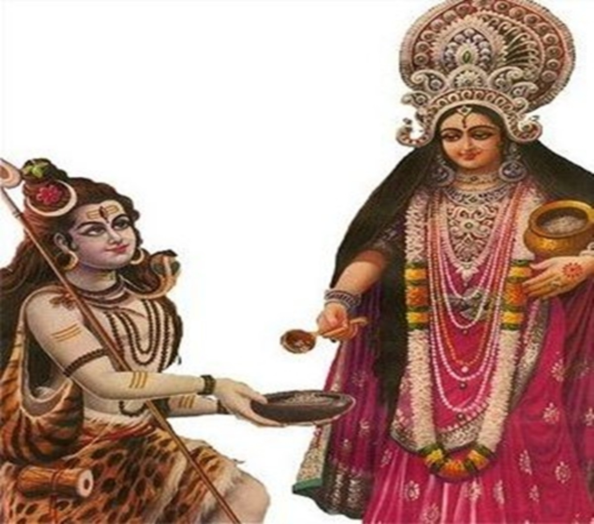 Goddess Annapurna with consort Lord Shiva