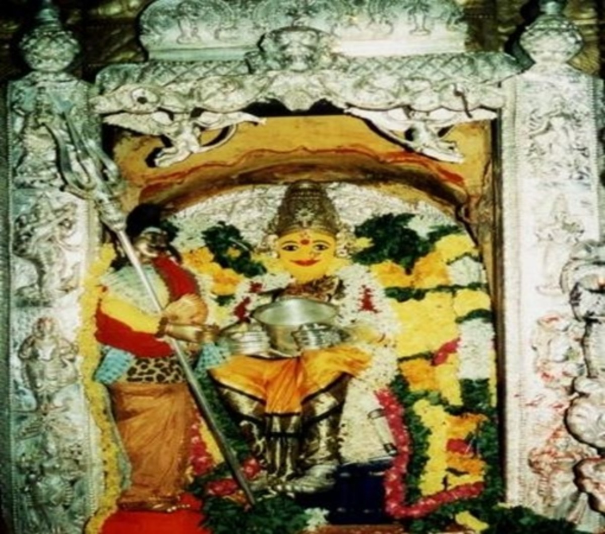 Mata Annapoorneshwari at Vijayawada Kanaka Durga Temple
