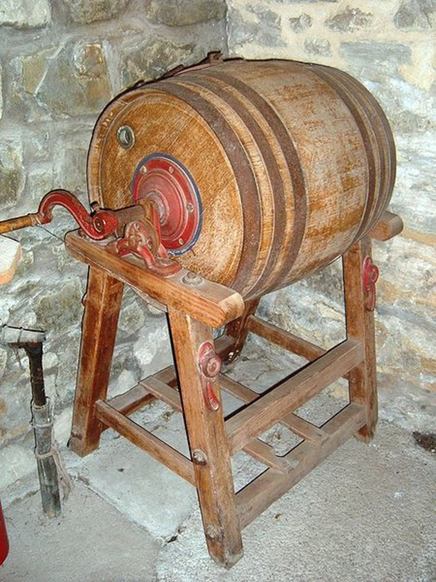 A big butter churn, for making butter