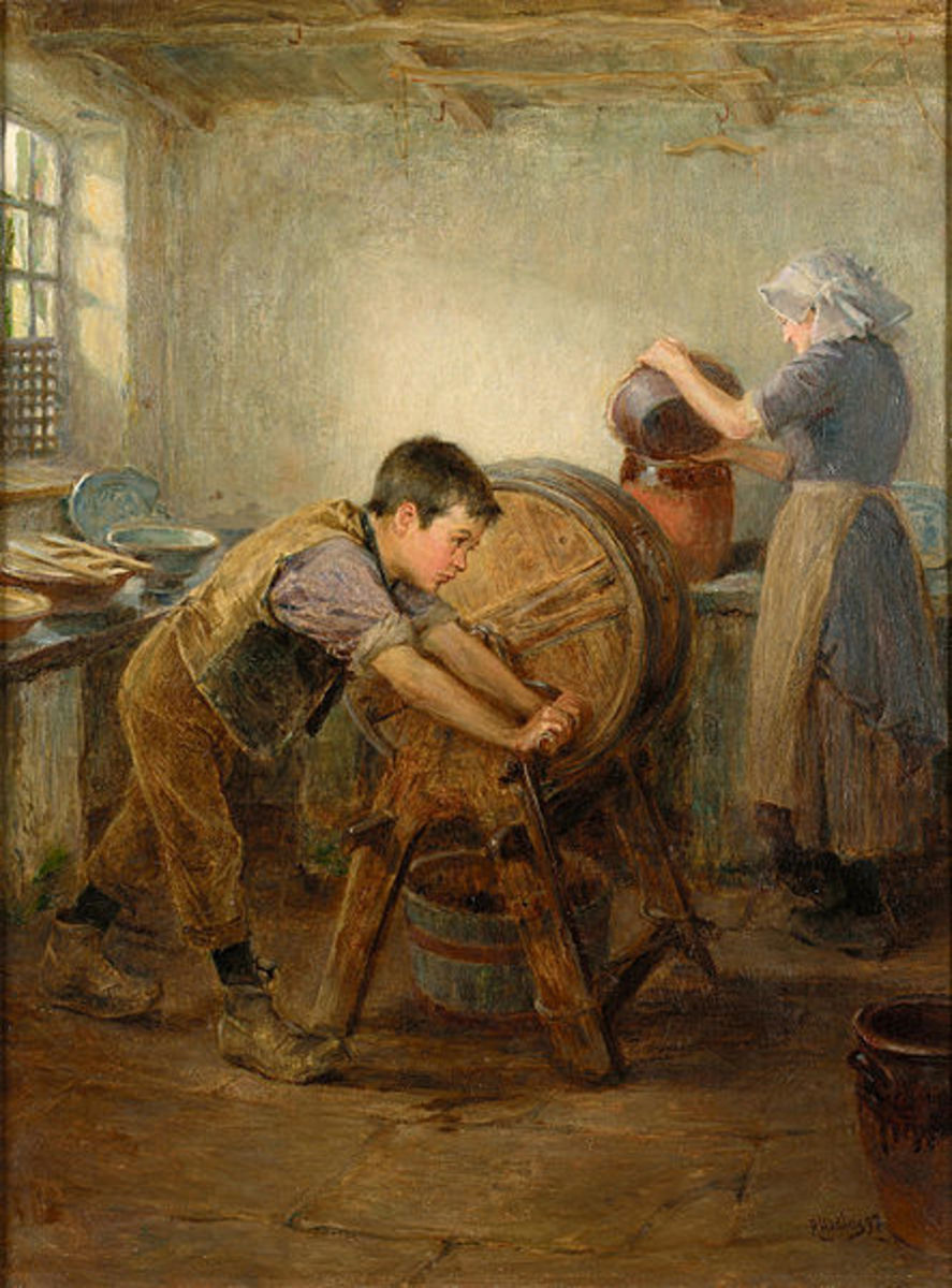 """The Butter Churn"" by artist Ralph Hedley."