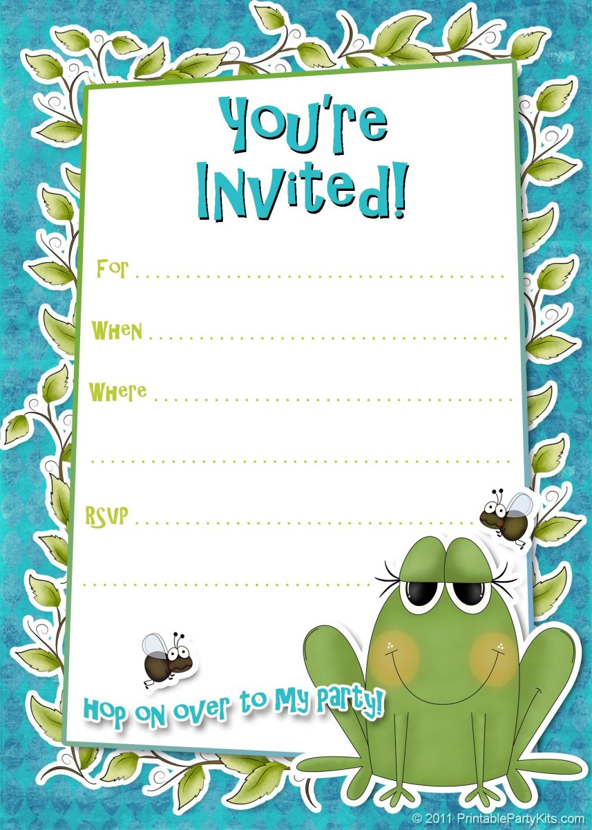 It is a picture of Refreshing Free Printable Boy Birthday Invitations