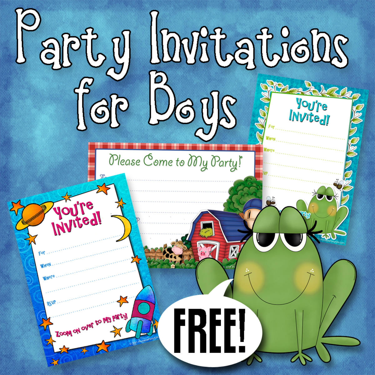 Declarative image for free printable boy birthday invitations