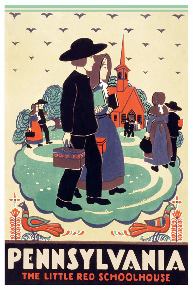 Pennsylvania Dutch travel poster