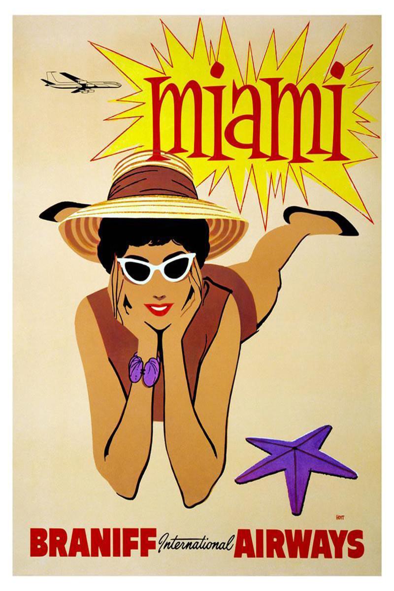 Miami vintage travel poster