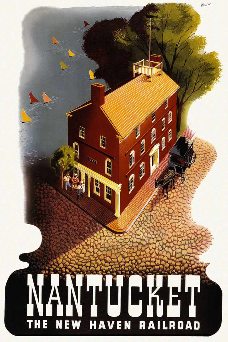 Nantucket New Haven Railroad vintage poster