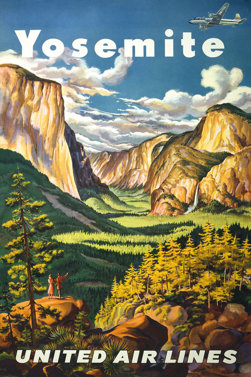 free Yosemite travel poster