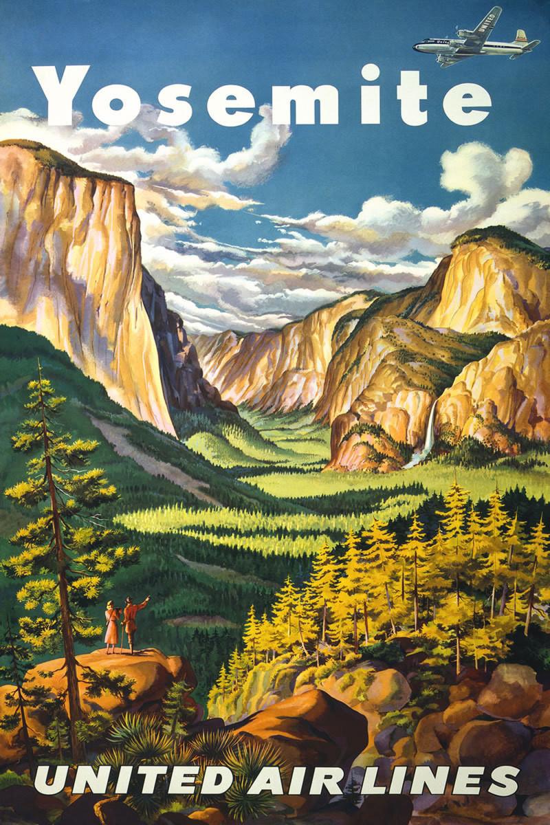 free Yosemite travel poster