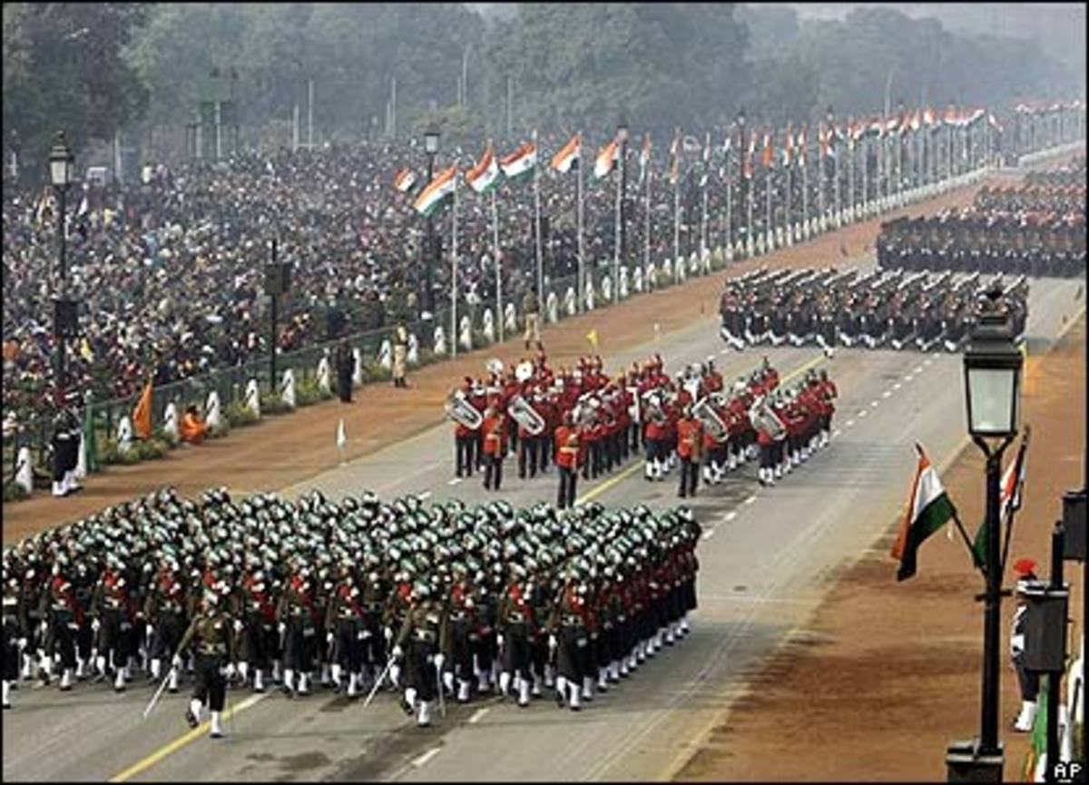 The Republic Day Parade, Delhi Image Courtesy http://news.bbc.co.uk/2/low/in_pictures/7210526.stm