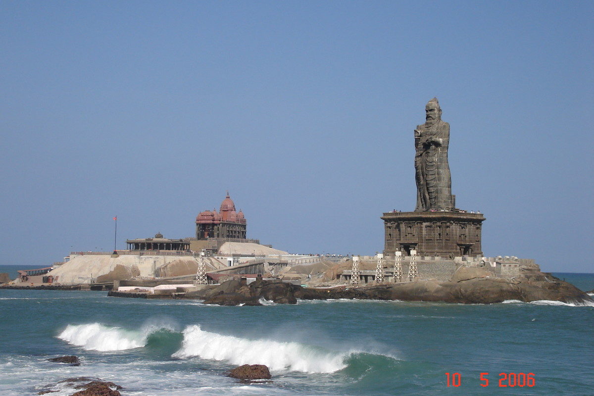 Cape Comorin in Southern India