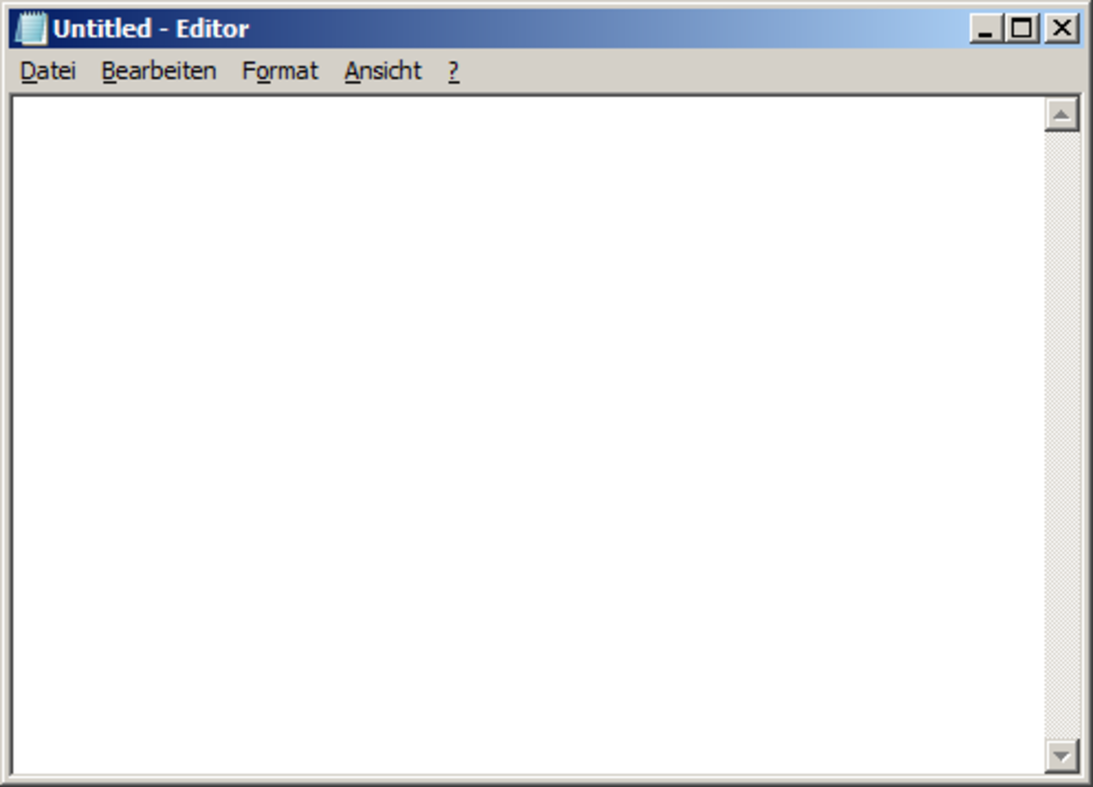 Start typing at the top of the empty file in your text editor.