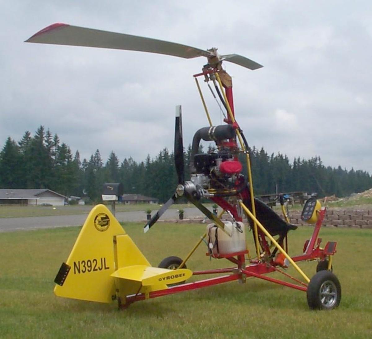 Far 103 legal ultralight gyrocopter